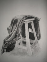 Leather Jacket - charcoal on newsprint 2008