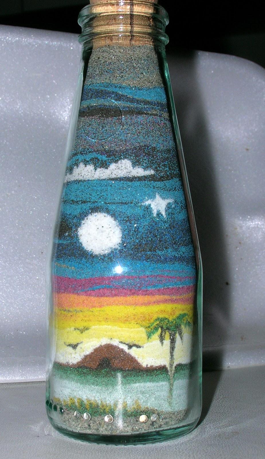 Composizioni In Vetro Piante Grasse : Fra fimo e arte miniature di sabbia colorata