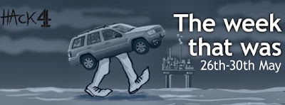 Oil and motor cars animated political cartoon © Matt Buck Hack Cartoons for Channel 4 News in the UK