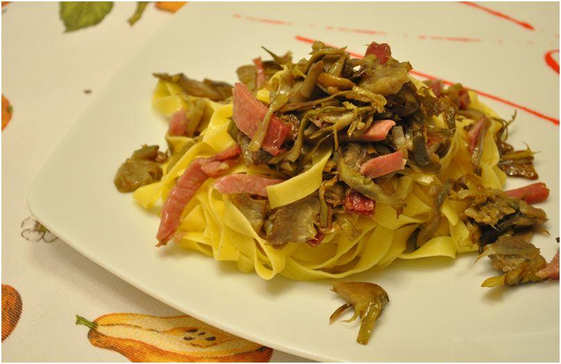 Lisa 39 s creations tagliatelle con carciofi croccanti e speck for Carciofi ricette