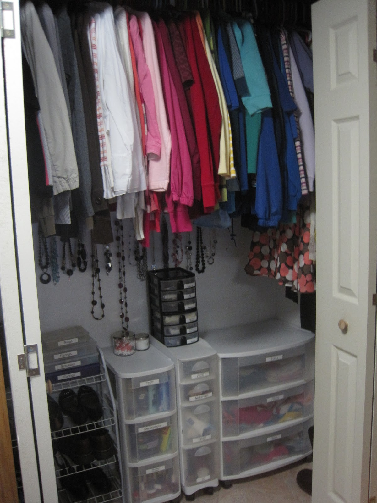 Crafts And Crap Bathroom Closet Organization