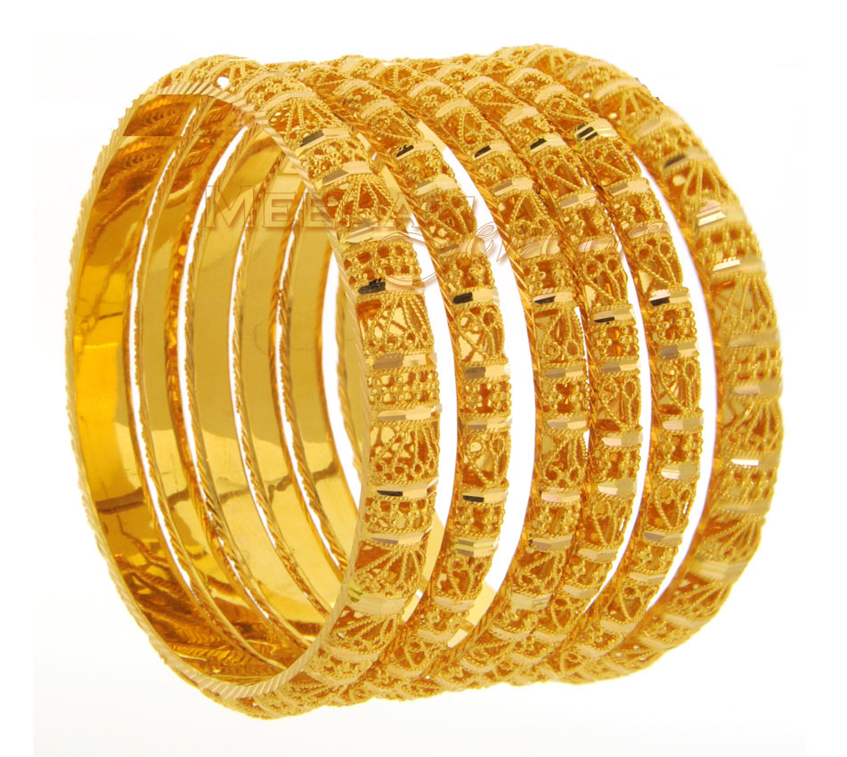Welcome to the fashion world Gold Bangles