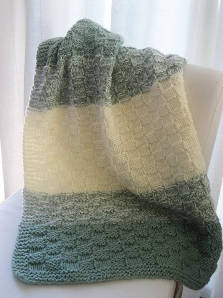 LuluKnits: Basket Weave Baby Blanket