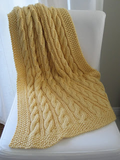 cable knit blanket LuluKnits: Violet's Cable Knit Blanket cable knit blanket