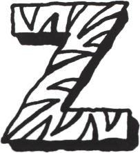 Colorir E Divertido Letra Z Para Pintar Alfabeto Para Colorir