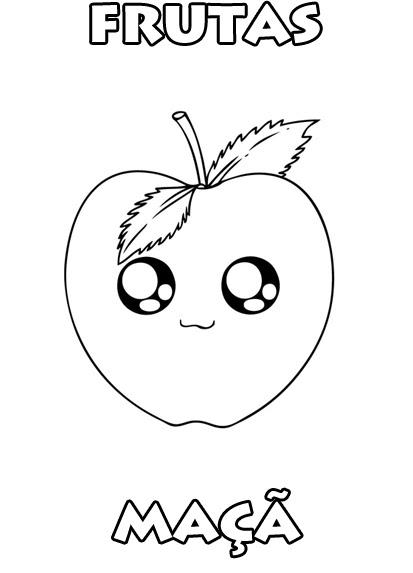 Colorir é Divertido Desenho De Maçã Para Colorir Frutas