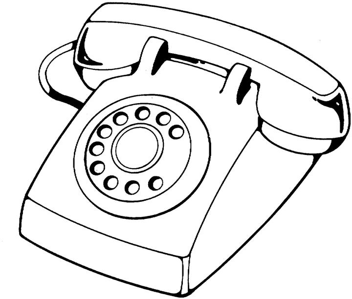 Telefone Fixo Para Colorir