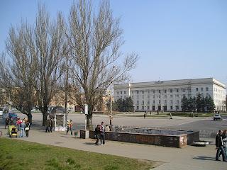 Площадь Свободы, 1 апреля 2007