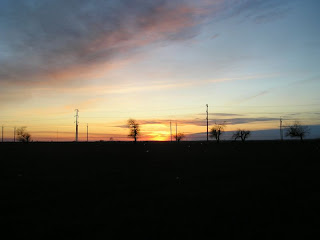 Закат, вид от Красной Горки, 9 апреля 2007