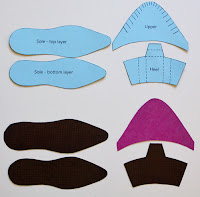 How to Make Paper High-Heel Shoes.Paper Toys.