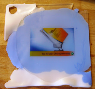 Water Soluble Paper Using A Silicone Baking Tray Soap