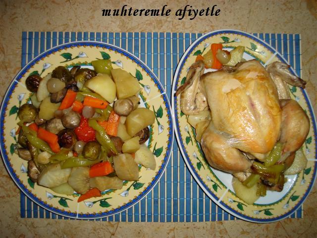 Fırın Poşetinde Sebze ve Tavuk