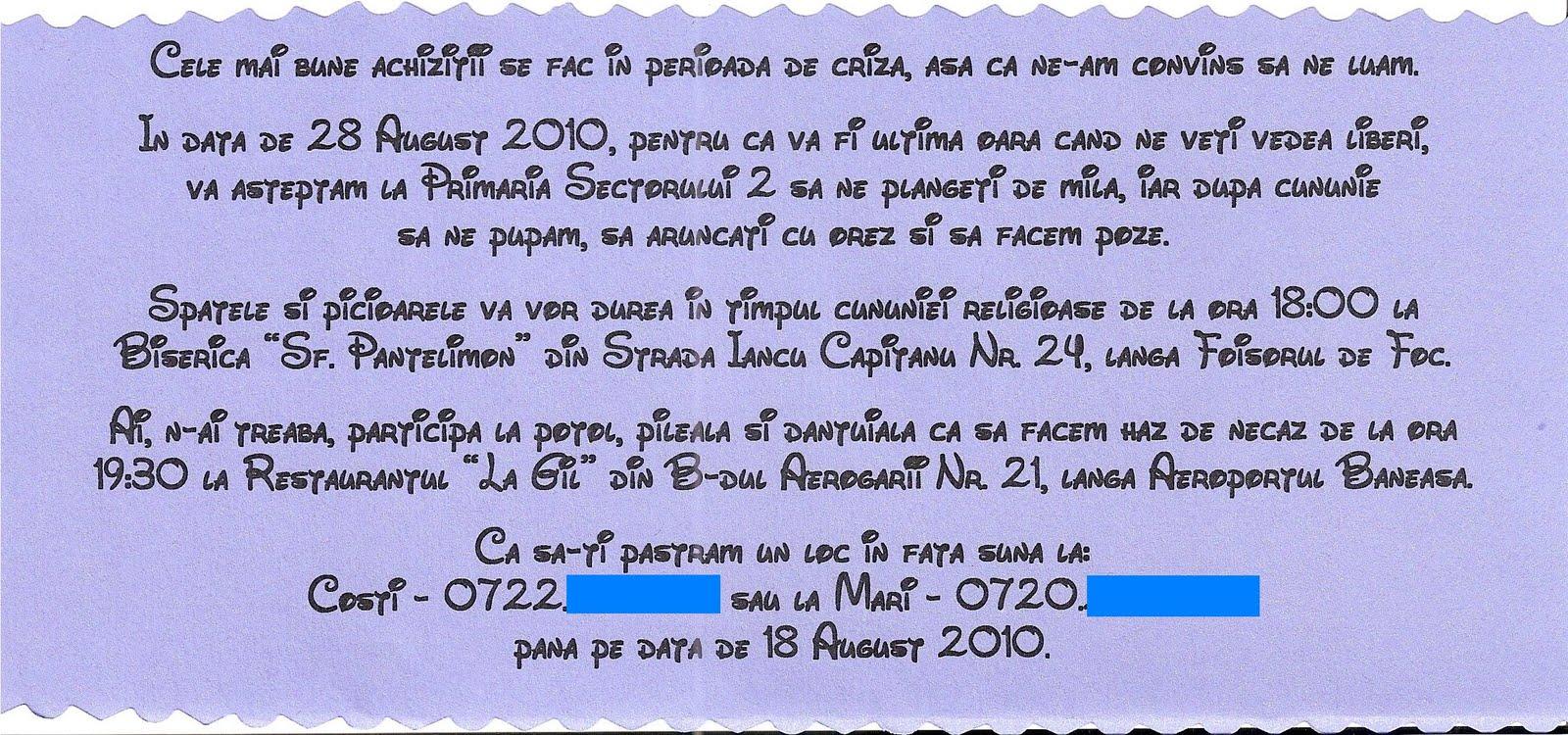 Zig Zag Invitatie La Nunta