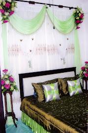 Green + White Bedroom Setting
