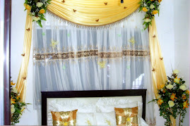 Bedroom deco - yellow & white