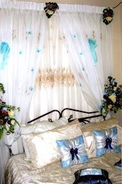 Bedroom deco - baby blue+white