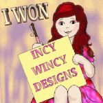 I won an Incy Wincy Design Challenge
