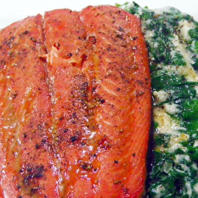 Year On The Grill: Orange Juice Marinated Steelhead Salmon