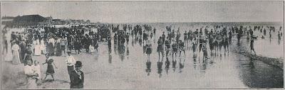 1920s beach scene