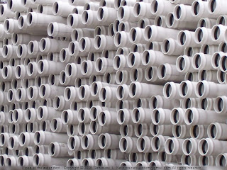 Stack of PVC pipes