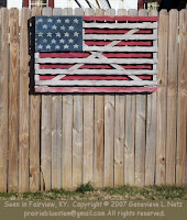 Wooden flag at Fairview, KY