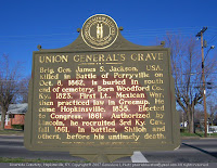 Historic marker of Union general's grave