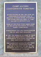 Marker at Camp Alcorn Confederate Cemetery