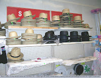 Men's hats at the Amish store