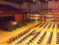 High School gym ready for Baccalaureate