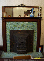 Parlor fireplace in an old house, Hopkinsville, KY