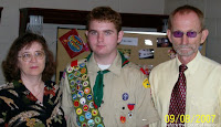 Eagle Scout and parents