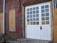 New back doors at fire station museum