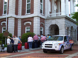 Election results returned to the courthouse