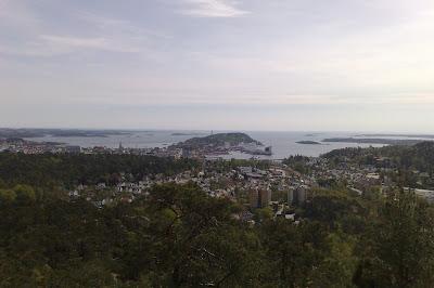 Utsikt over Kristiansand