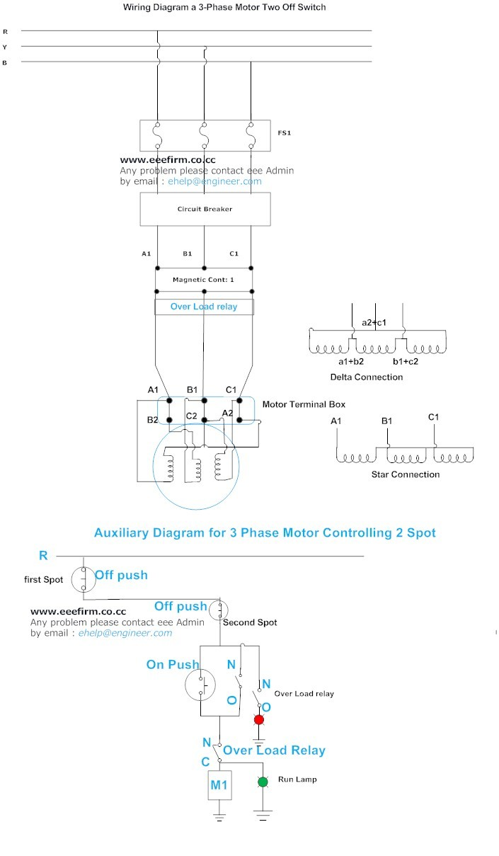 hight resolution of 3 phase motor connection and control 2 spot