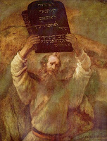 Rembrandt painting of Moses breaking the tablets
