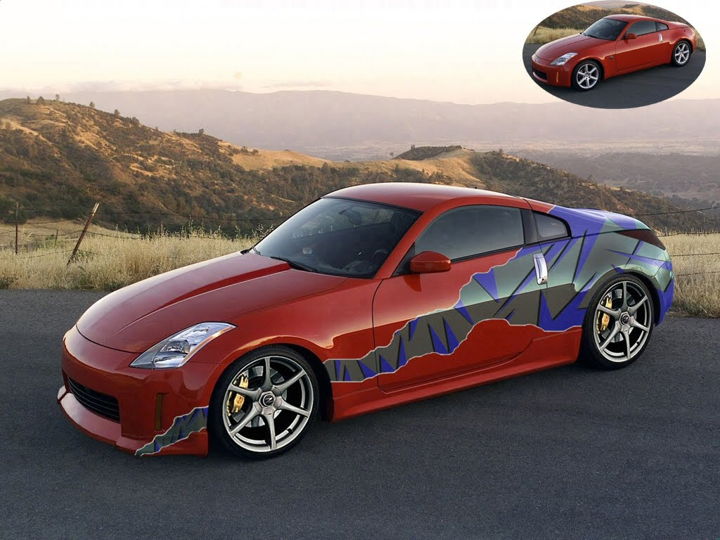 nissan 350z tuning photoshop tuning virtual tuning. Black Bedroom Furniture Sets. Home Design Ideas