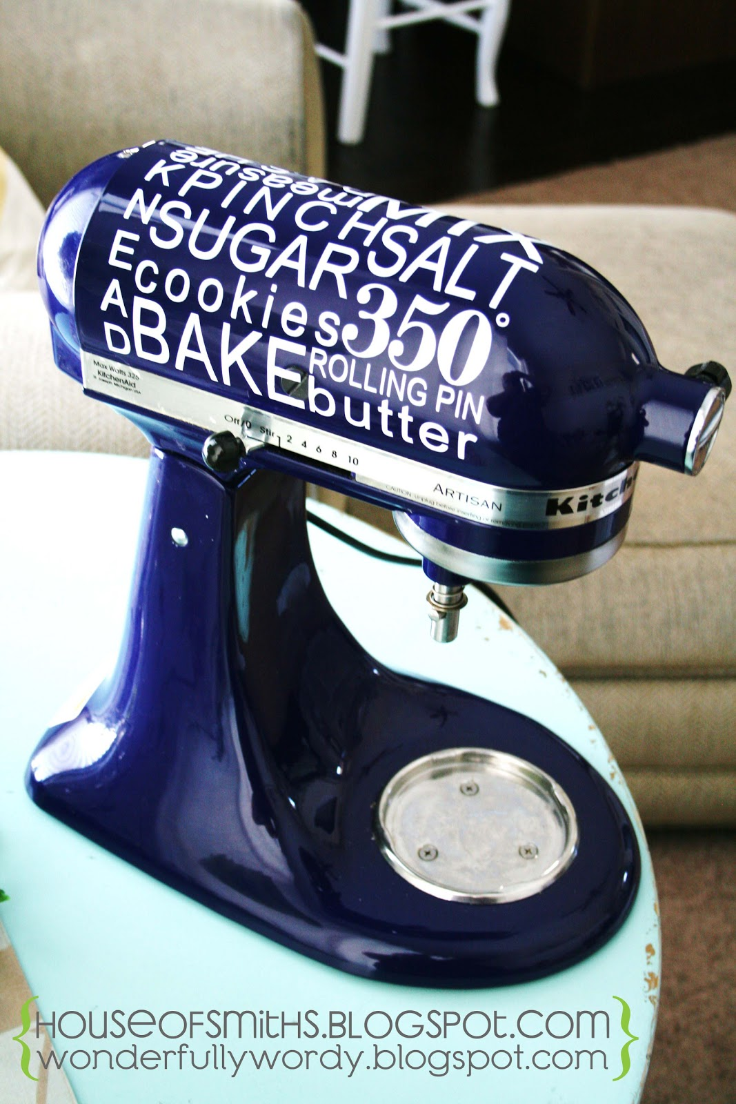 Vinyl Decals For Your Kitchenaid Mixer