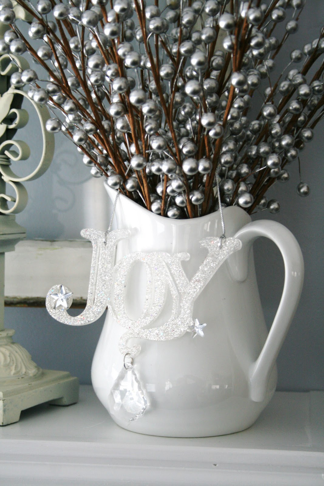Blue, Green, White and Silver Christmas Decorating Ideas