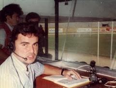 En la cabina fútbol XERRF 1994