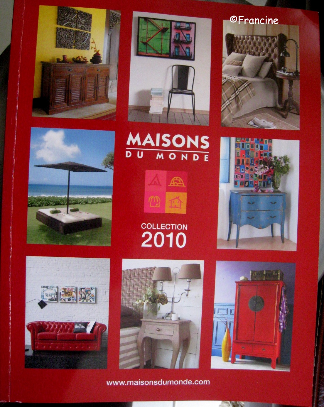 dans le catalogue maisons du monde d coupage et collage triptyque th me marylin les. Black Bedroom Furniture Sets. Home Design Ideas