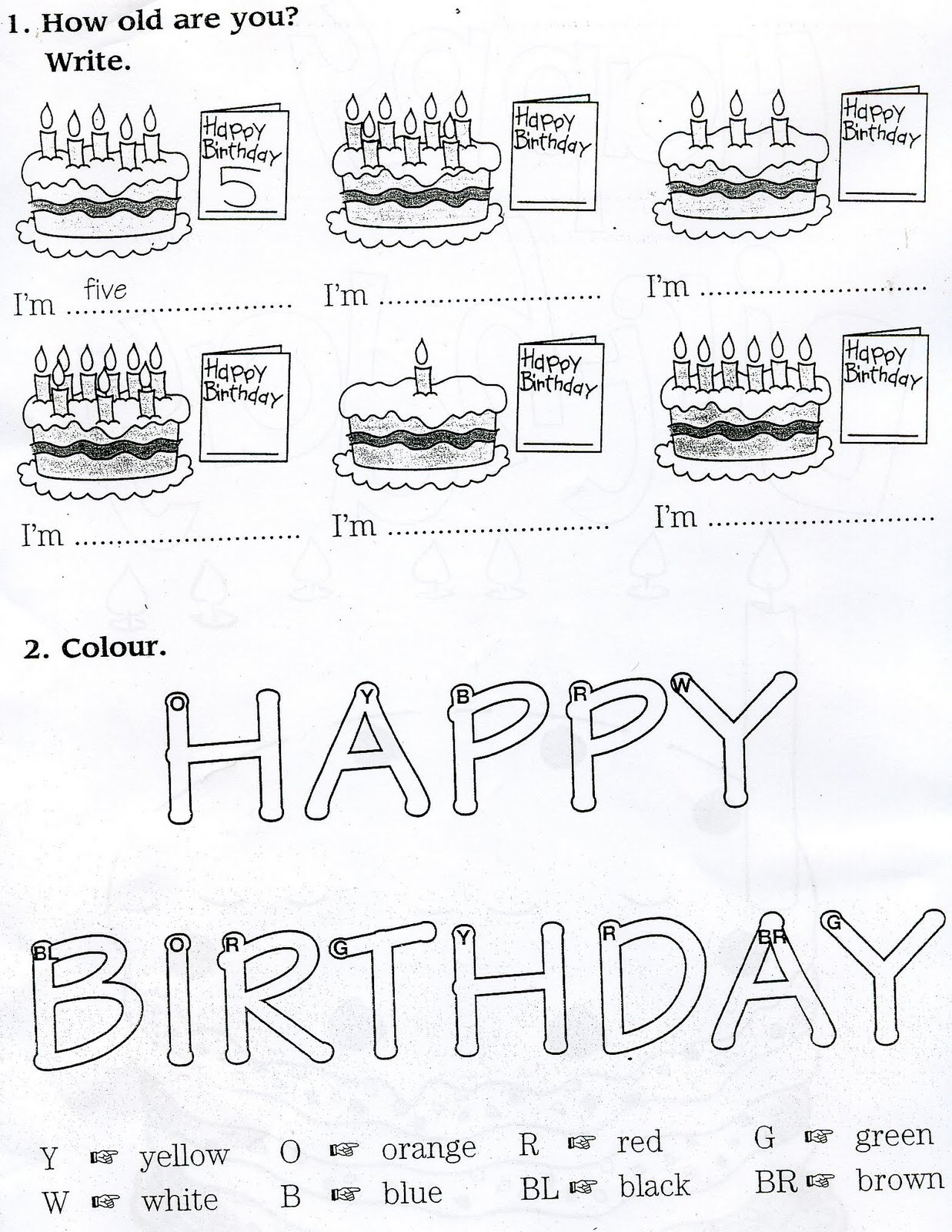 English For Primary Teachers And Children Birthday