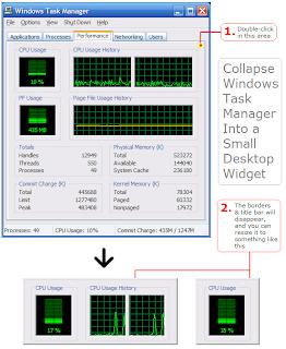 SCREENSHOT Windows taskmanager collapse to widget 2006.10