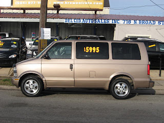 large assortment new items factory outlet NEW ORLEANS USED CAR BLOG: 2003 Chevy Astro Van, $5825.00 ...