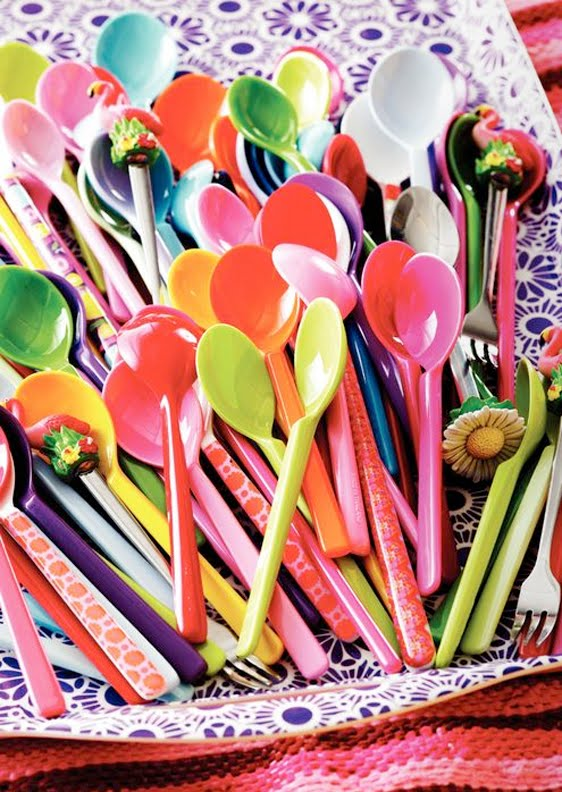 Colorful Kitchen Supplies: Down And Out Chic: Colorful Kitchen Accessories From Huset