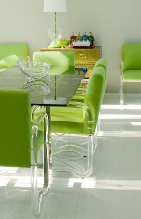 green dining room chairs | Down and Out Chic: Green Dining