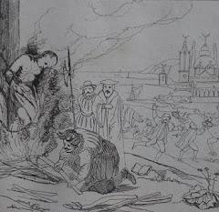 Supplice de Servet dans une caricature anticalviniste