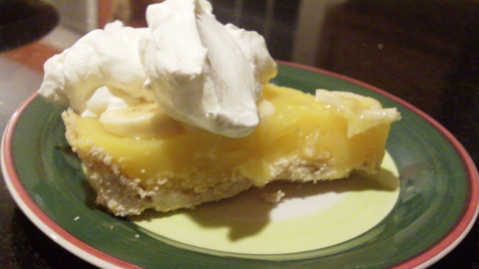 Banana Cream Pie With Real Bananas