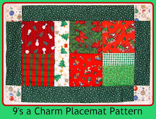 make your own charms and sew up these fun easy placemats