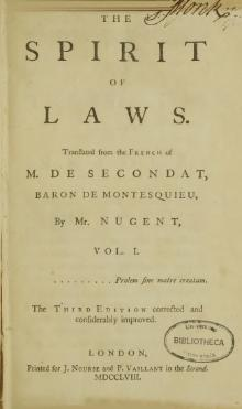 The Spirit of Laws (1758)/Book VI